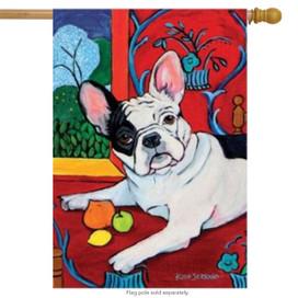 Muttisse French Bulldog Dog House Flag