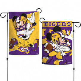 Louisiana State Tigers NCAA Mickey Mouse Garden Flag