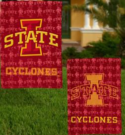Iowa State University Cyclones Glitter Garden Flag