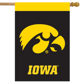 Iowa Hawkeyes NCAA Licensed House Flag