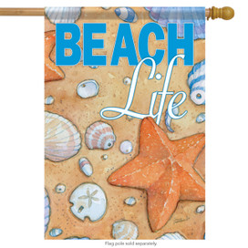 Beach Life Summer House Flag
