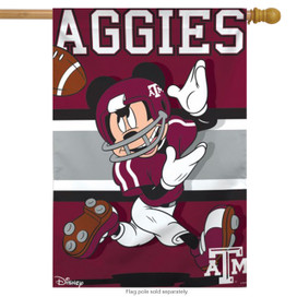 Texas A&M University Aggies NCAA Mickey Mouse House Flag