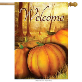 Fall Pumpkin Patch House Flag