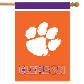 Clemson Tigers NCAA Licensed House Flag