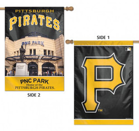 Pittsburgh Pirates MLB 2 Sided Vertical House Flag