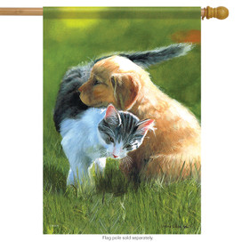 Friendship Pets Spring House Flag