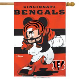 Cincinnati Bengals NFL Mickey Mouse Football House Flag
