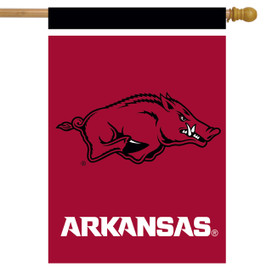 Arkansas Razorbacks NCAA House Flag