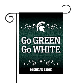 Michigan State University Spartans Paisley NCAA Garden Flag