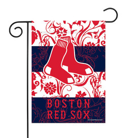 Boston Red Sox Floral MLB Garden Flag