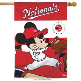 Washington Nationals MLB Mickey Mouse Baseball House Flag