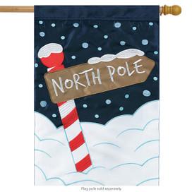 North Pole Christmas Applique House Flag