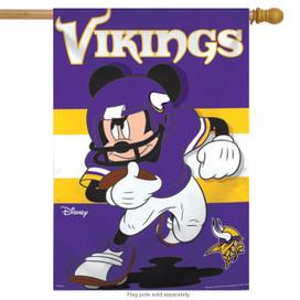 Minnesota Vikings NFL Mickey Mouse Football House Flag