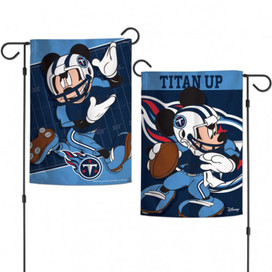 Tennessee Titans 2-Sided Mickey Mouse NFL Garden Flag