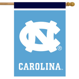 North Carolina Tar Heels NCAA House Flag