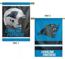 Carolina Panthers 2 Sided NFL Vertical House Flag