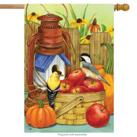 Autumn Display Birds House Flag