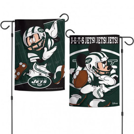 New York Jets 2-Sided Mickey Mouse NFL Garden Flag