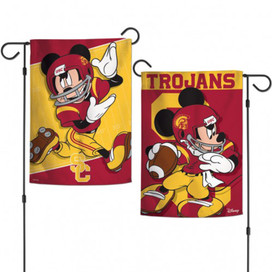 Southern California Trojans NCAA Mickey Mouse Garden Flag