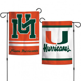 University of Miami Hurricanes NCAA Garden Flag
