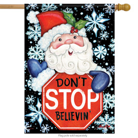 Don't Stop Believin' Christmas House Flag
