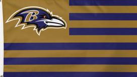 Baltimore Ravens NFL Deluxe Grommet Flag