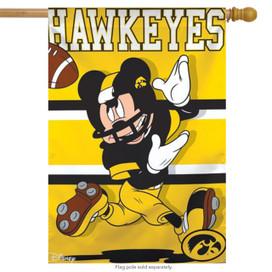 University of Iowa Hawkeyes NCAA Mickey Mouse House Flag