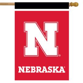 Nebraska Cornhuskers NCAA Licensed House Flag