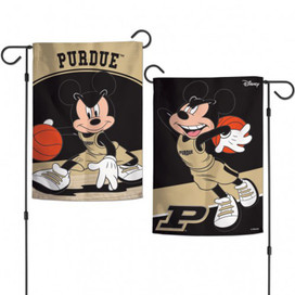 Purdue University NCAA Mickey Mouse Garden Flag