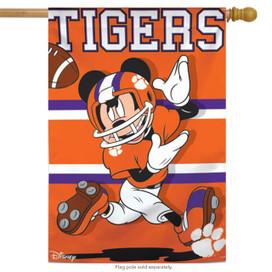 Clemson University Tigers NCAA Mickey Mouse House Flag