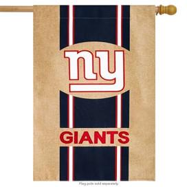 New York Giants Burlap NFL Licensed House Flag