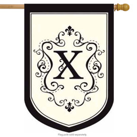 Monogram X Applique Estate Flag