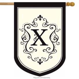 Monogram X Applique Estate Flag
