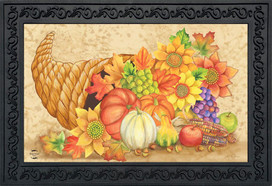 Fall Bounty Cornucopia Doormat