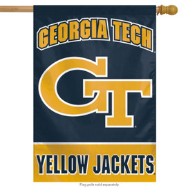 Georgia Tech Vertical NCAA House Flag
