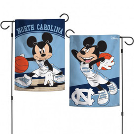 North Carolina Tar Heels NCAA Mickey Mouse Garden Flag