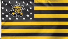 Wichita State University Deluxe Grommet Flag