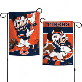 Auburn University Tigers NCAA Mickey Mouse Garden Flag