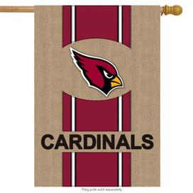 Arizona Cardinals Burlap NFL Licensed House Flag