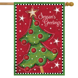 Festive Christmas Tree Holiday House Flag