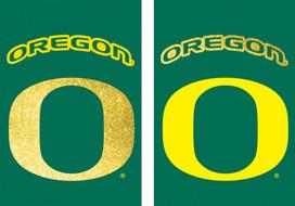 University of Oregon NCAA Glitter House Flag