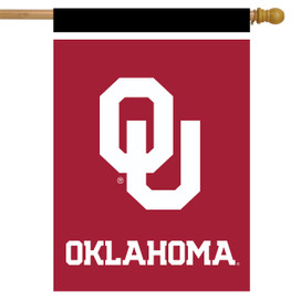 Oklahoma Sooners NCAA House Flag