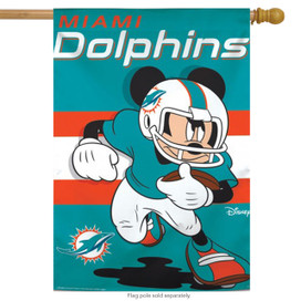 Miami Dolphins NFL Mickey Mouse Football House Flag