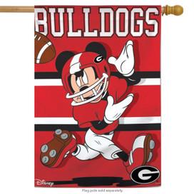 University of Georgia Bulldogs NCAA Mickey Mouse House Flag
