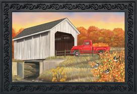 Autumn Bridge Sunset Doormat