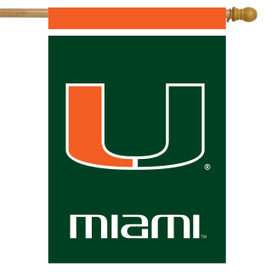 Miami Hurricanes NCAA Licensed House Flag