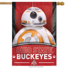 "Ohio State ""Buckeyes"" NCAA Star Wars Vertical House Flag"