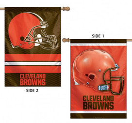 Cleveland Browns 2 Sided NFL Vertical House Flag