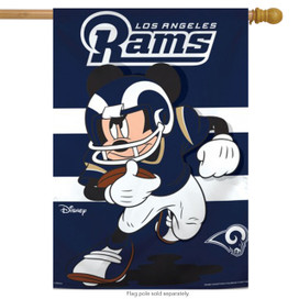 Los Angeles Rams NFL Mickey Mouse Football House Flag