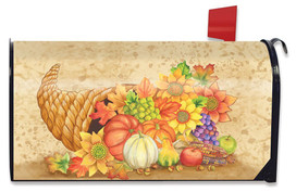 Fall Bounty Cornucopia Magnetic Mailbox Cover